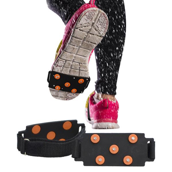 本日24時間限定 すぐに使える 絶対お得な5%OFFクーポン配布中 直営ストア 是非この機会にお買い物をお楽しみください 送料無料 規格内 フリーサイズ シューズ用 スノースパイクバンド シューズスパイク 登山 道 雪 革靴 滑り止め スニーカー お中元 こども で 防止 スパイクバンド 靴 カンタン 靴底 アイススパイク パンプス 面ファスナー