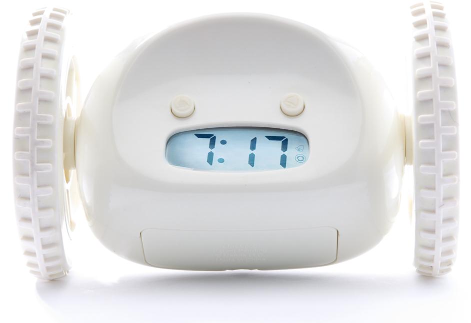 【送料無料】クロッキー Clocky 動く 逃げる 目覚まし時計 (ブラック・ホワイト) アラーム時計 アイデア商品 ギフトラッピング可能 日本語取説付き