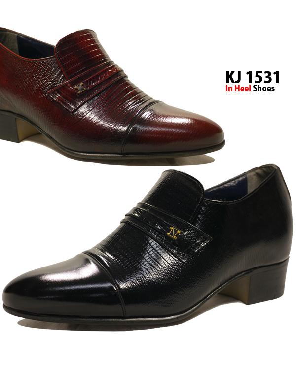 【あす楽】 【送料無料】 履くだけで7cmもスタイルアップ 【KJ1531】 メンズ インヒールレザーシューズ 型押しデザインで高級感◎ スリッポンで履きやすいシークレット 革靴□kj1531□