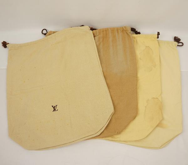 LOUIS VUITTON ルイ・ヴィトン ルイ・ヴィトン 保存袋 (4枚セット)巾着タイプ ★ワケあり★【中古】【保存袋】