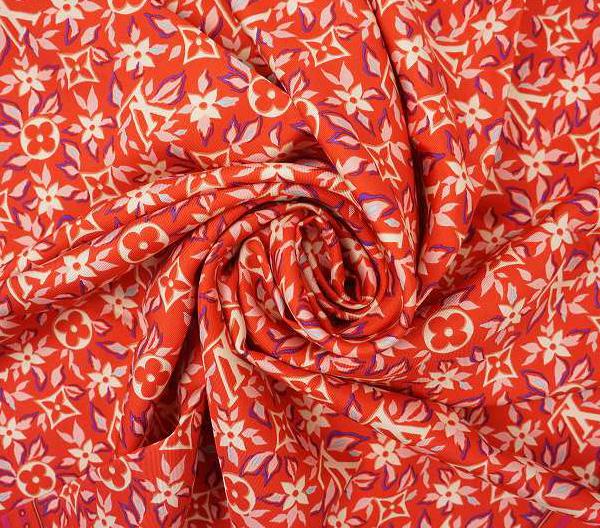 LOUIS VUITTON ルイ・ヴィトンスカーフ M70685シルク100%・ピンク系【LOUIS VUITTON】【ルイヴィトン】【スカーフ】【バンドー】【ピンク系】【中古】