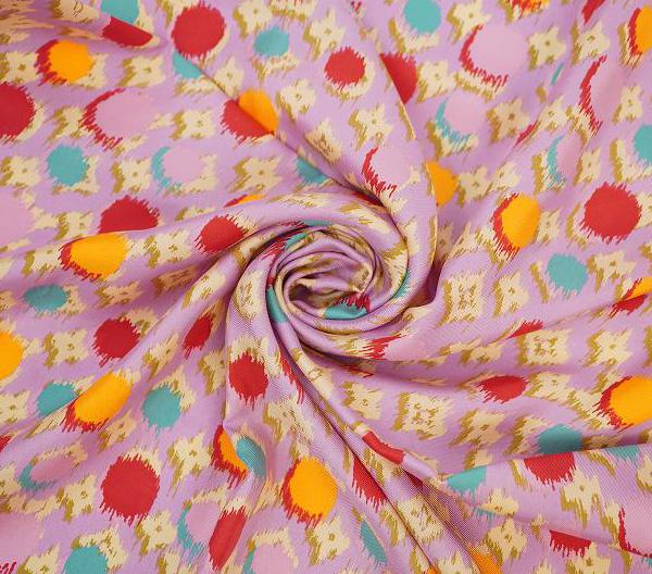 LOUIS VUITTON ルイ・ヴィトンスカーフ シルク100%・ピンク系【LOUIS VUITTON】【ルイヴィトン】【スカーフ】【シルク】【マルチカラー】【中古】