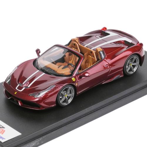 LookSmart 1/43スケール フェラーリ 458 スペチアーレ A Rubino Micalizzato-Silber Stripe LS435C