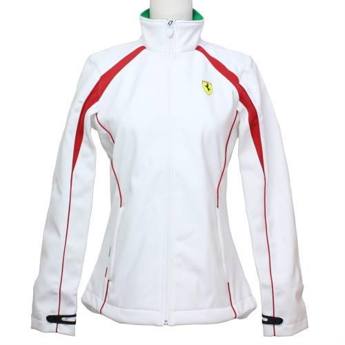 フェラーリ レディース バイカラー SF レインジャケット ホワイト