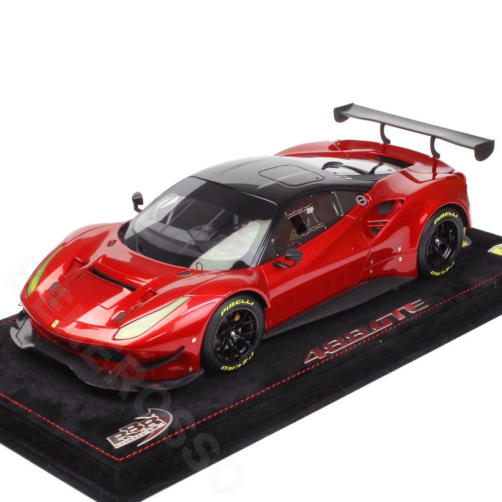 BBR MODELS 1/18スケール フェラーリ 488 GTE Red Fire Met / Black roof BBRP18122RFB