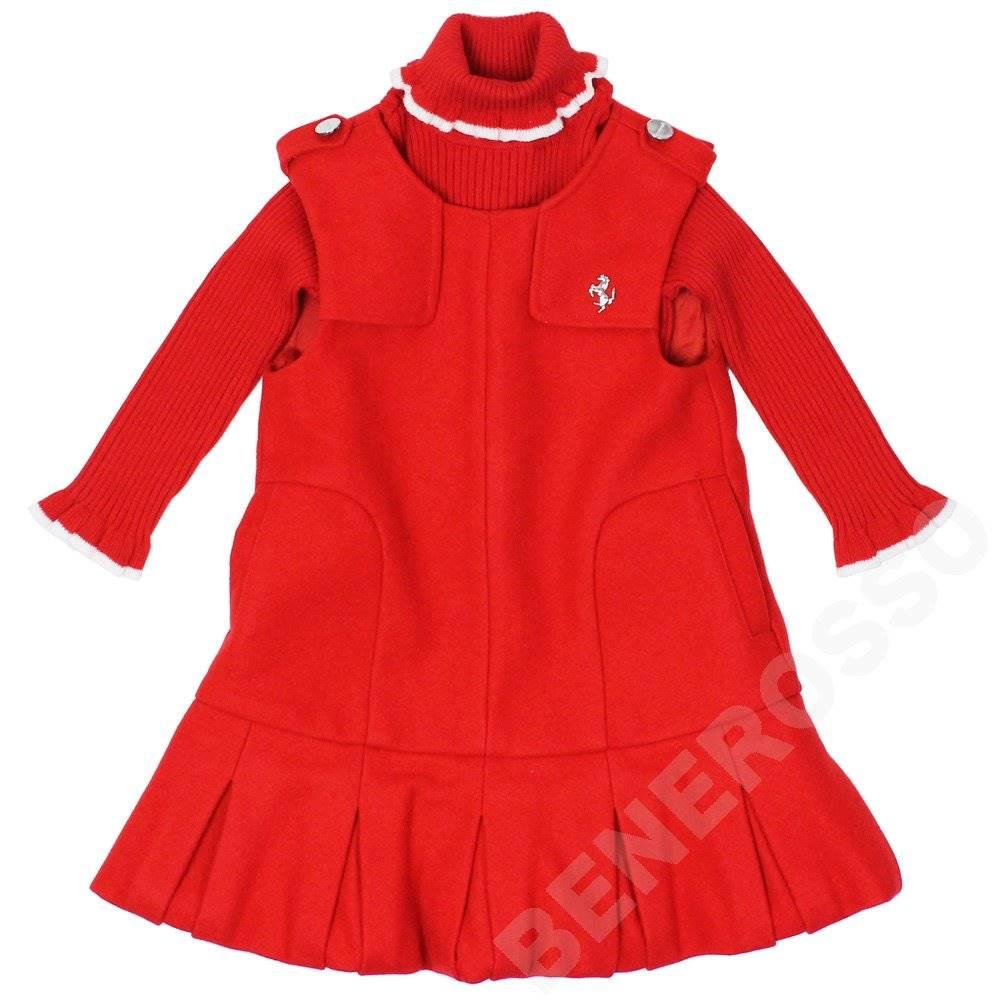 フェラーリ ベビー セーター ・スカート セット 18ヶ月 レッド
