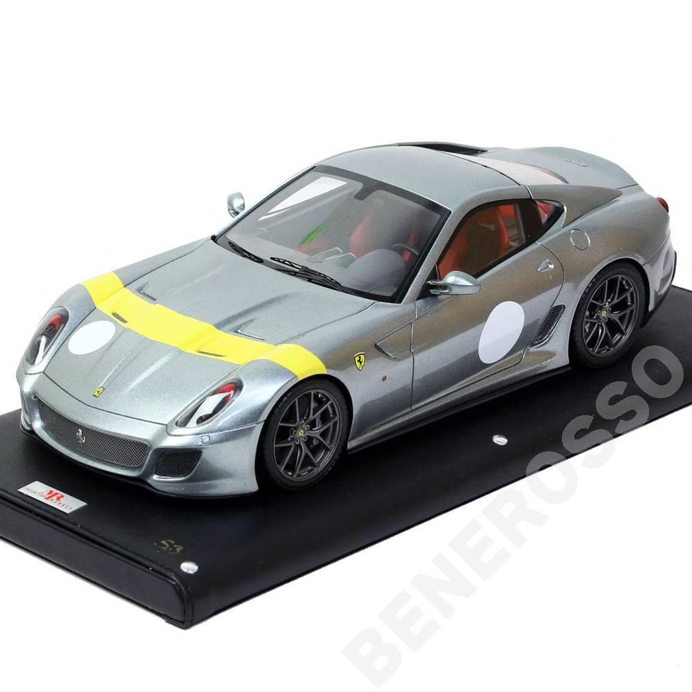 MR コレクション 1/18スケール フェラーリ 599GTO Grigio Titanio with Yellow Stripe FER03C