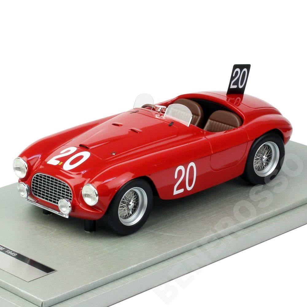 テクノモデル 1/18スケール フェラーリ 166MM スパ24時間 1949 優勝車 #20 Lchinetti/J.Lucas レッド TM18-52C