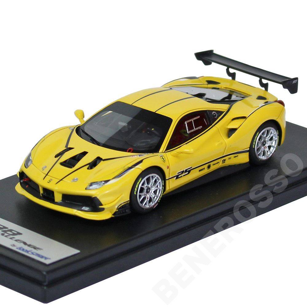 Look Smart 1/43スケール フェラーリ 488 Challenge Giallo Modena with Livery LS476A