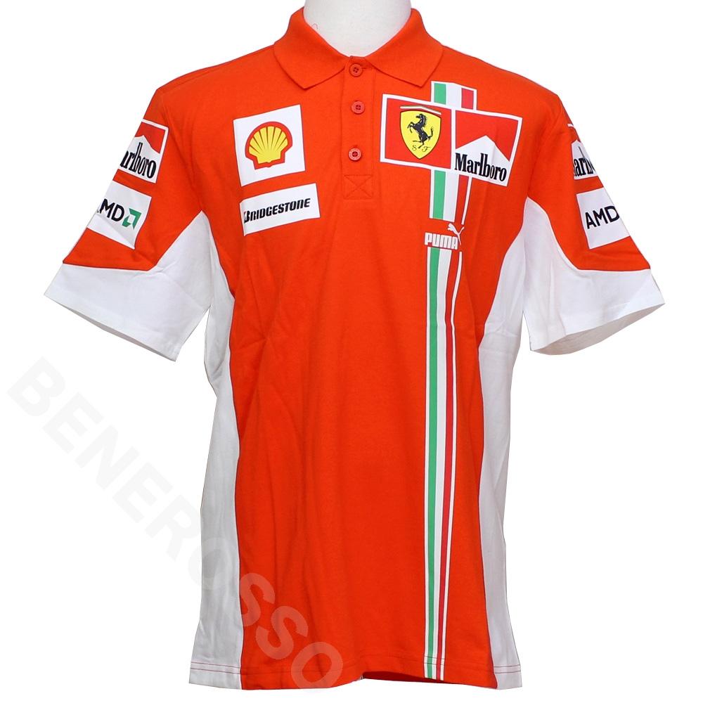 フェラーリ 2007 クルー 支給用 ポロシャツ Marlboroロゴ Lサイズ