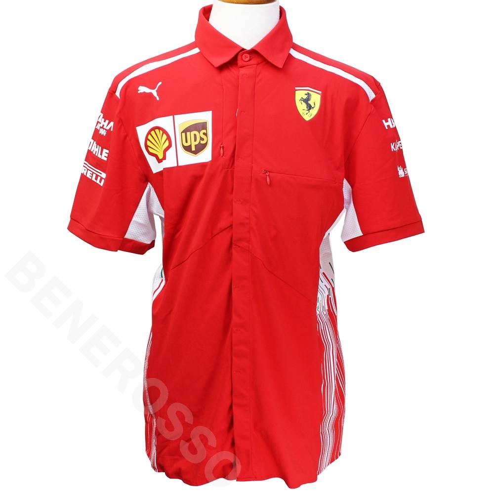 フェラーリ 2018 クルー支給用 チームシャツ レッド