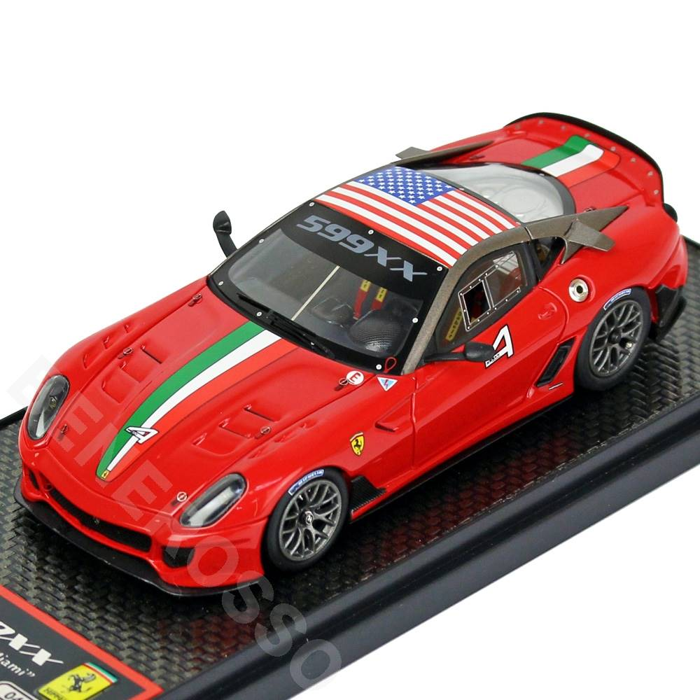 BBR MODELS 1/43スケール フェラーリ 599XX Homestead Miami Metallic Red-Flag U.S.A BBRC042A