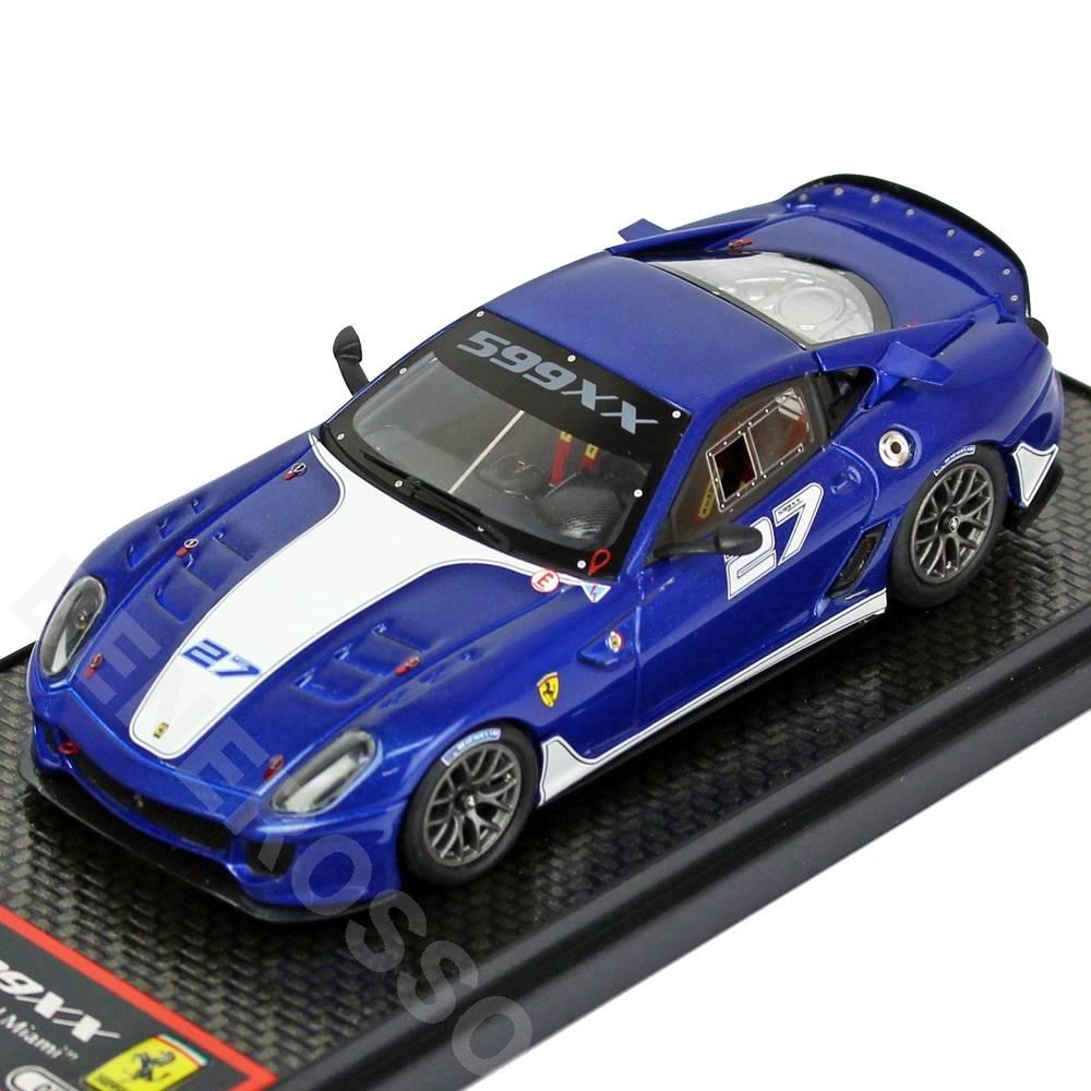 BBR MODELS 1/43スケール フェラーリ 599XX Homestead Miami Metallic Blue BBRC42B
