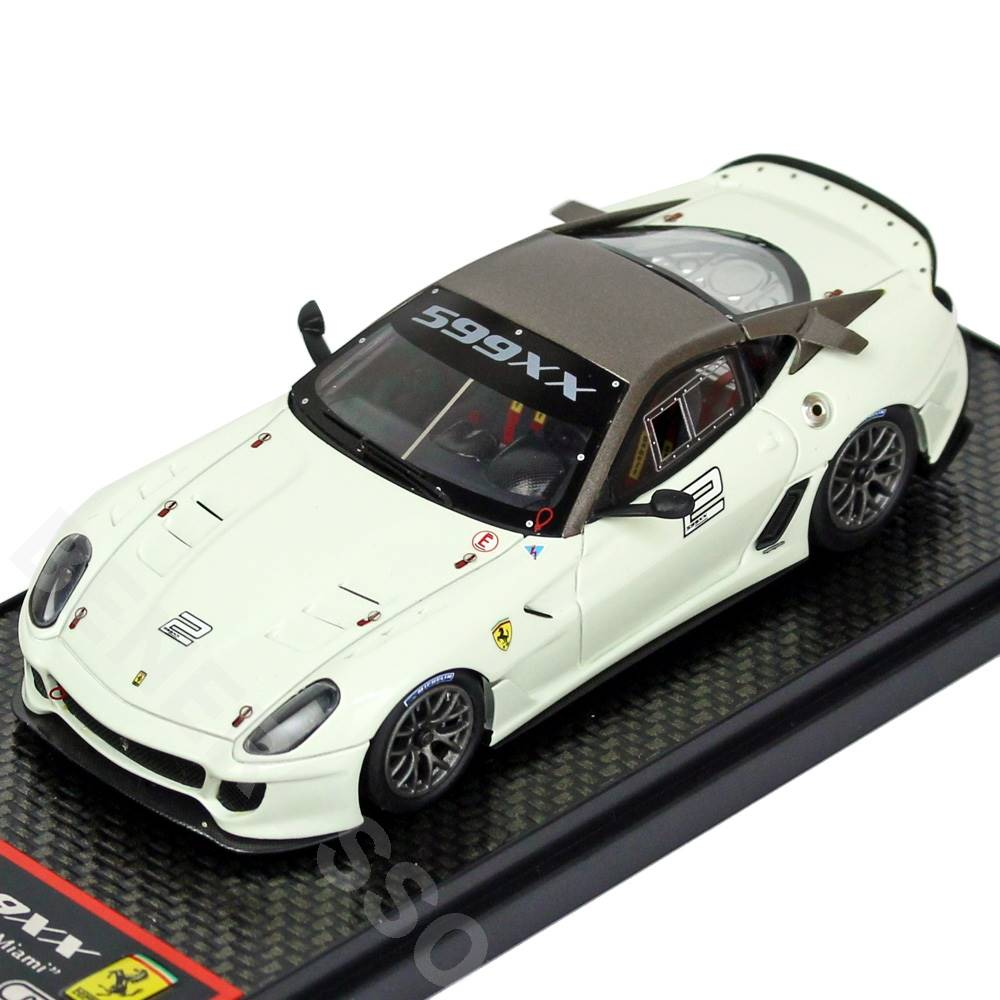 BBR MODELS 1/43スケール フェラーリ 599XX Homestead Miami White/Black BBRC42D