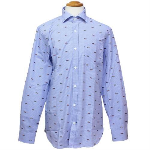 ランボルギーニ メンズ スリムフィット Huracan パターンシャツ ライトブルー 9011878CCU141