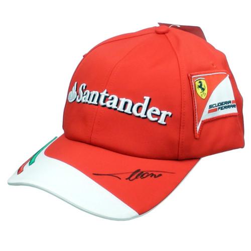 メモラビリア フェラーリ 2014 クルー支給用 キャップ F.アロンソ サイン入り 新品