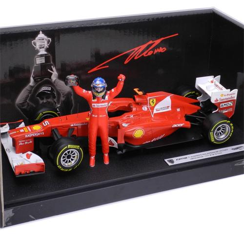 マテル 1/18スケール フェラーリ F2012 F.アロンソ マレーシアGP 2012 Winner フィギュア付 BBW94