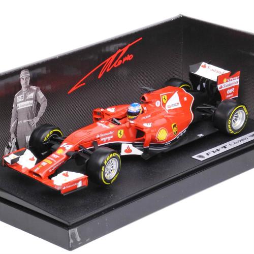 マテル 1/18スケール フェラーリ F1 2014 F14T #14 F.アロンソ ドライバ付 BLY67