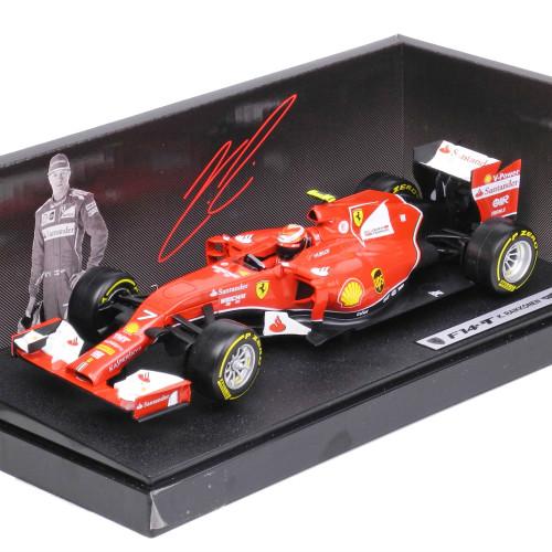マテル 1/18スケール フェラーリ F1 2014 F14T #7 K.ライコネン ドライバー付 BLY68