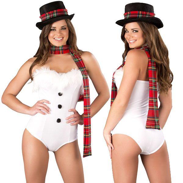 海外ブランド ROMA ローマ クリスマス コスプレ レディース サンタ コスチューム 海外 衣装 白ベルベット ファー縁取りロンパース2点セット/大人 仮装 パーティー イベント