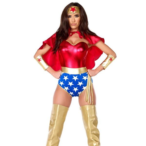 海外ブランド ForPlay フォープレイ コスチューム 大人コスプレ ハロウィン衣装 レディース スーパーヒーロー5点セット 仮装パーティー パレード