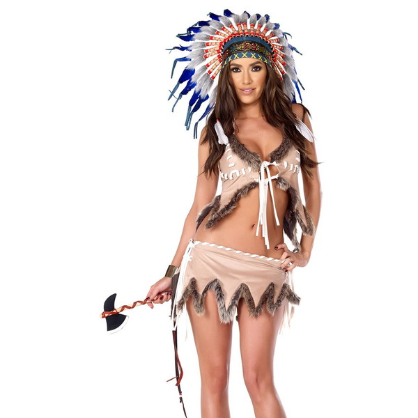 海外ブランド ForPlay フォープレイ ハロウィン コスプレ衣装 仮装 セクシーインディアンビューティーコスチューム3点セット/仮装パーティー・イベント