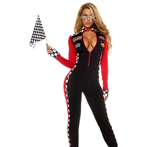 海外ブランド ForPlay フォープレイ レディース コスプレ 仮装 衣装 レーサー コスチューム3点セット レースクイーン キャットスーツ ジャンプスーツ ワンピース
