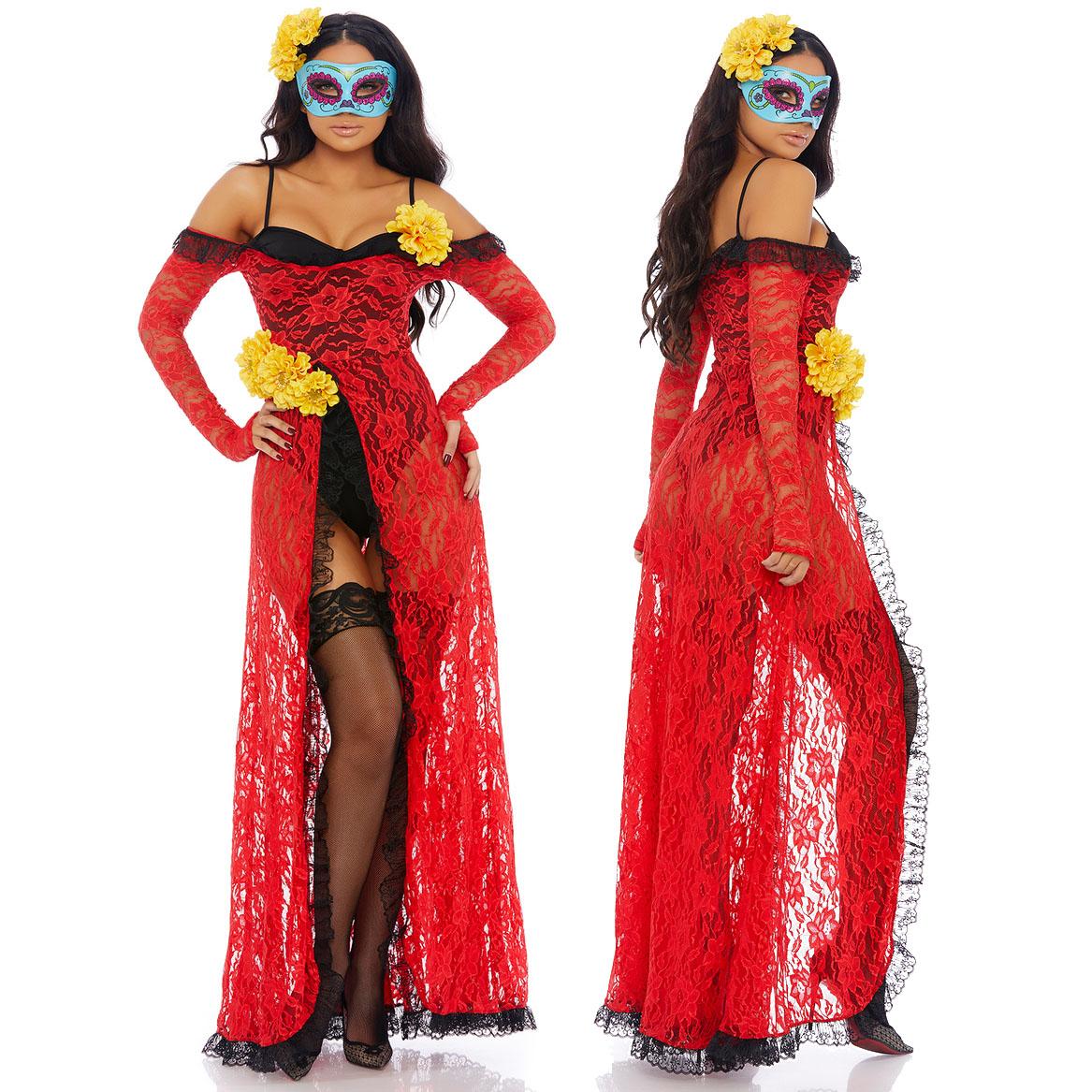 海外ブランド ForPlay フォープレイ コスチューム レディース 大人コスプレ ハロウィン衣装 ラテンアメリカ Day of the Dead2点セット パーティー パレード