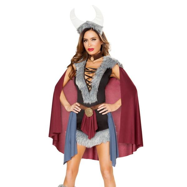 海外ブランド ROMA ローマ コスチューム レディース 大人コスプレハロウィン衣装 バイキング 海賊 豪華5点セット 仮装パーティー イベント