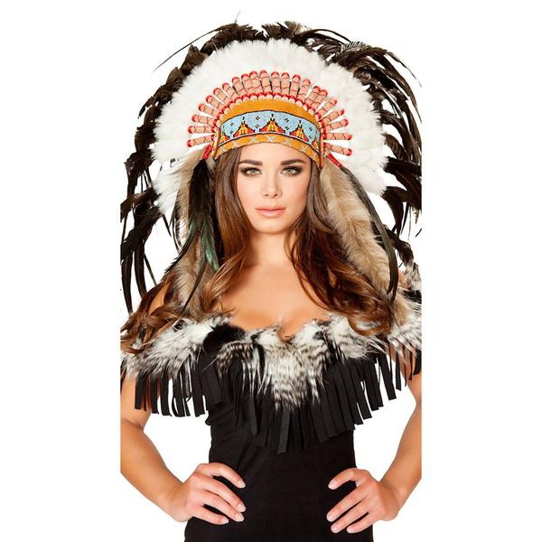海外ブランド ROMA ローマ ハロウィン コスプレ衣装 仮装 豪華セクシーインディアン羽飾りヘッドピース単品/仮装パーティー・イベント