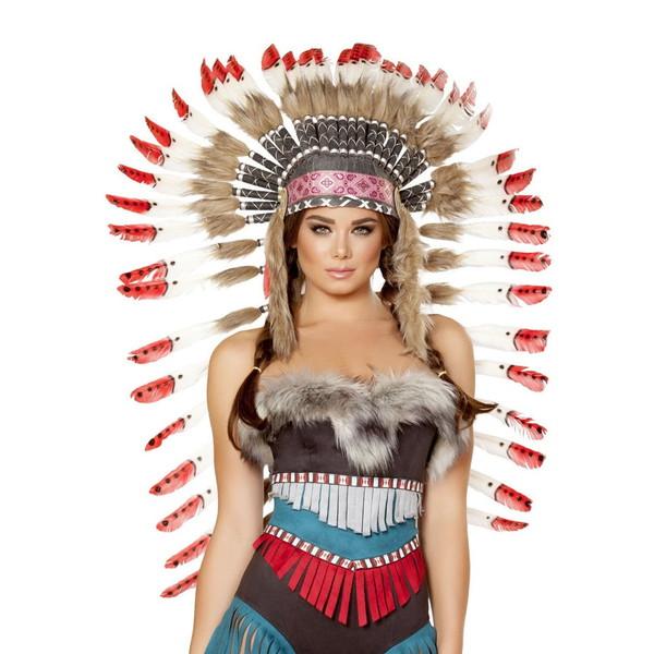 海外ブランド ROMA ローマ コスチューム 大人コスプレ ハロウィン衣装小物 インディアン 羽飾り ヘッドピース単品 仮装 パーティー イベント