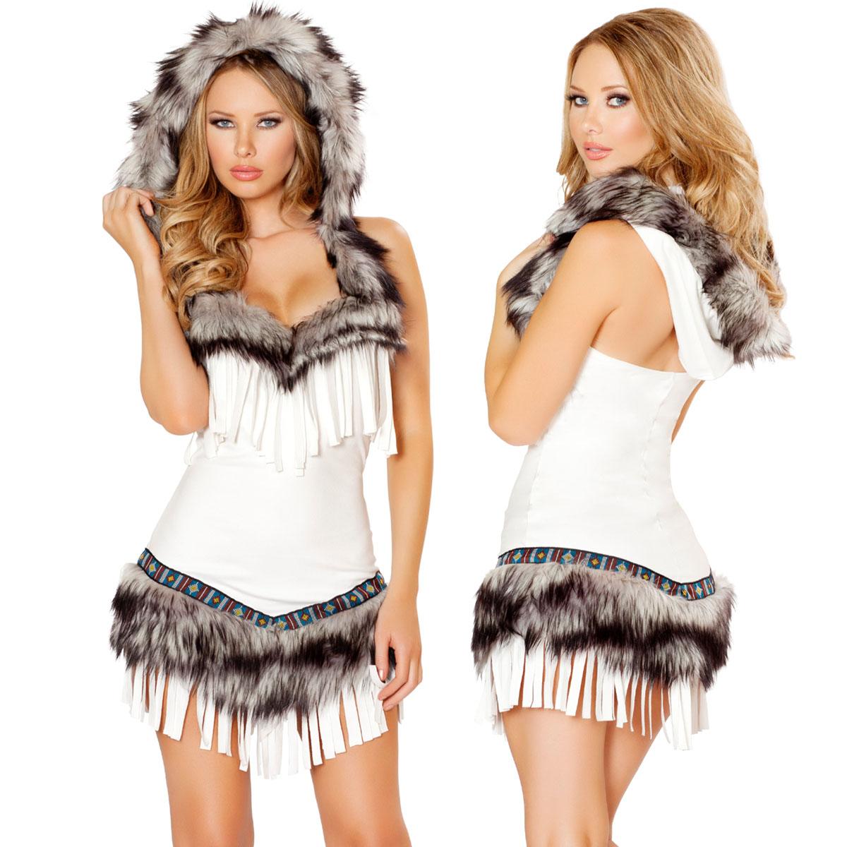 海外ブランド ハロウィン コスプレ衣装 仮装 レディースインディアンコスチュームドレス1pc/仮装パーティー・イベント