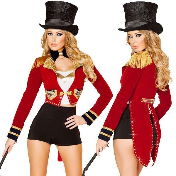 海外ブランド ROMA ローマ コスチューム ハロウィン コスプレ衣装 セクシーサーカス調教師コスチューム6点セット パーティー パレード イベント