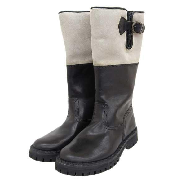 3980円以上送料無料 商い セボ CEBO レザー ブーツ size38 数量限定アウトレット最安価格 ブラック 中古 M02491
