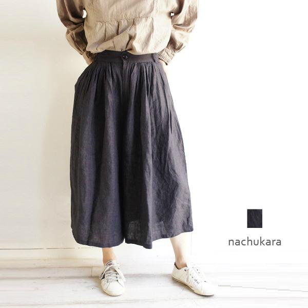 麻 リネン ガウチョ ショッピング パンツ nachukara ナチュカラ 新作 人気 NK76702 レディース 服 ゆったり ナチュラン ファッション ナチュラル服 リンネル 大人の
