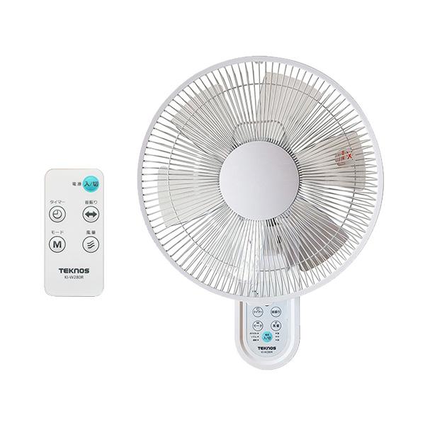 壁掛け式のフルリモコンタイプ ホワイト 与え 送料無料 一部地域を除く TEKNOS 壁掛け扇風機 KI-W280R KI-W-280-R 正規逆輸入品 30cm壁掛けフルリモコン扇風機 KIW280R KI-W280-R
