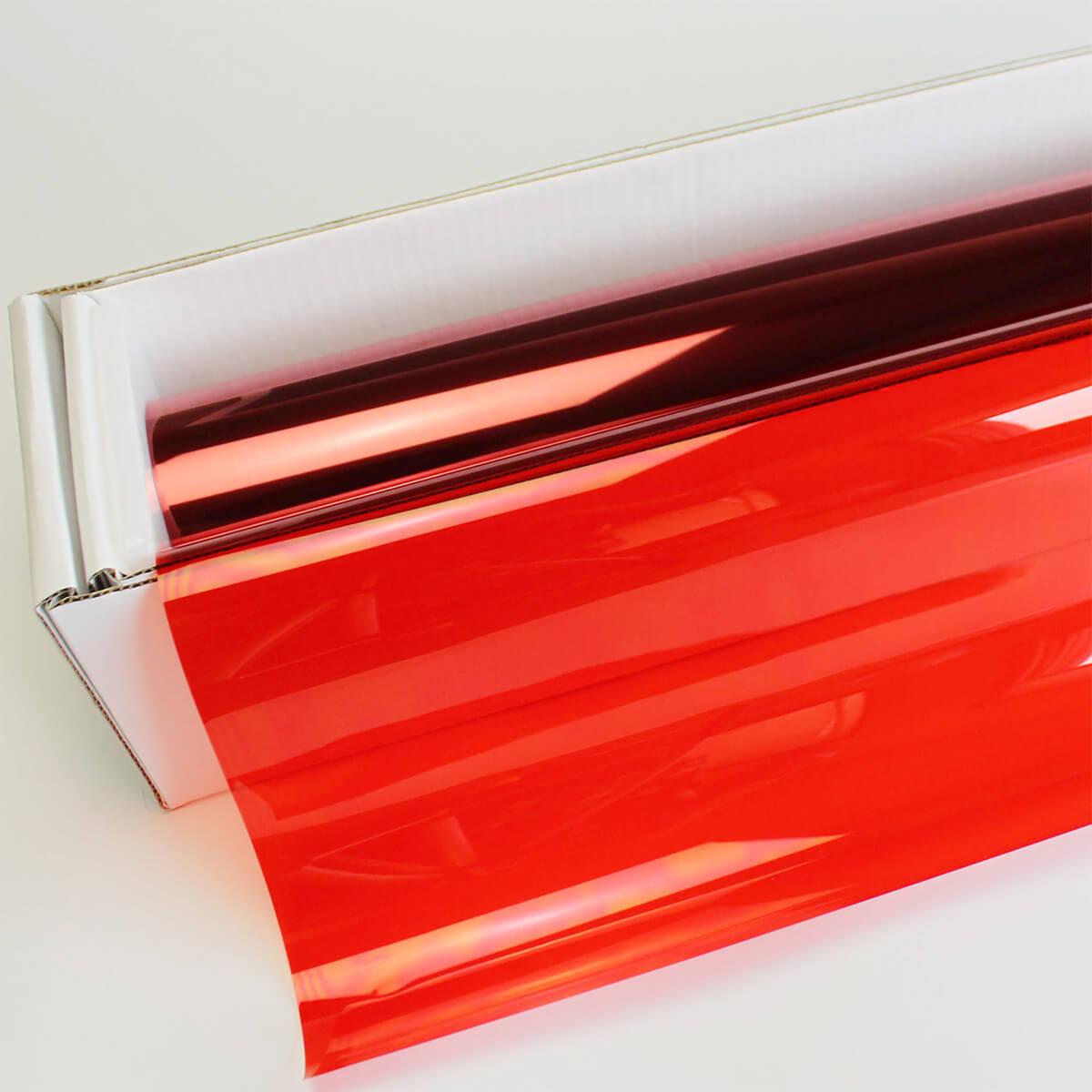 カーフィルム 窓ガラスフィルム アリゾナレッド(22%) 1m幅×30mロール箱売 カラーフィルム 染色フィルム UVカットフィルム ブレインテック Braintec