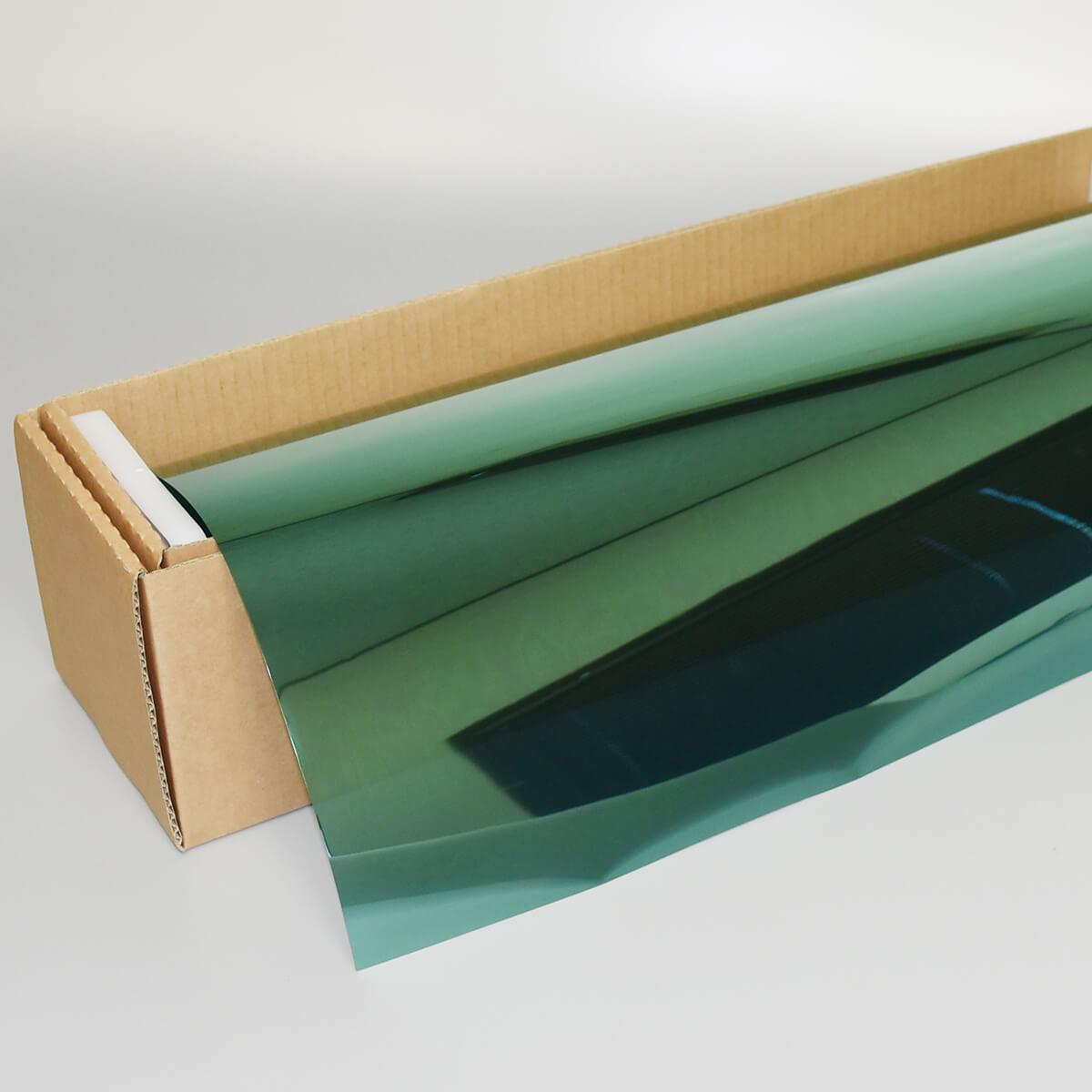 カーフィルム 窓ガラスフィルム ミラーグリーン14 50cm幅×30mロール箱売 マジックミラーフィルム 遮熱フィルム 断熱フィルム UVカットフィルム ブレインテック Braintec