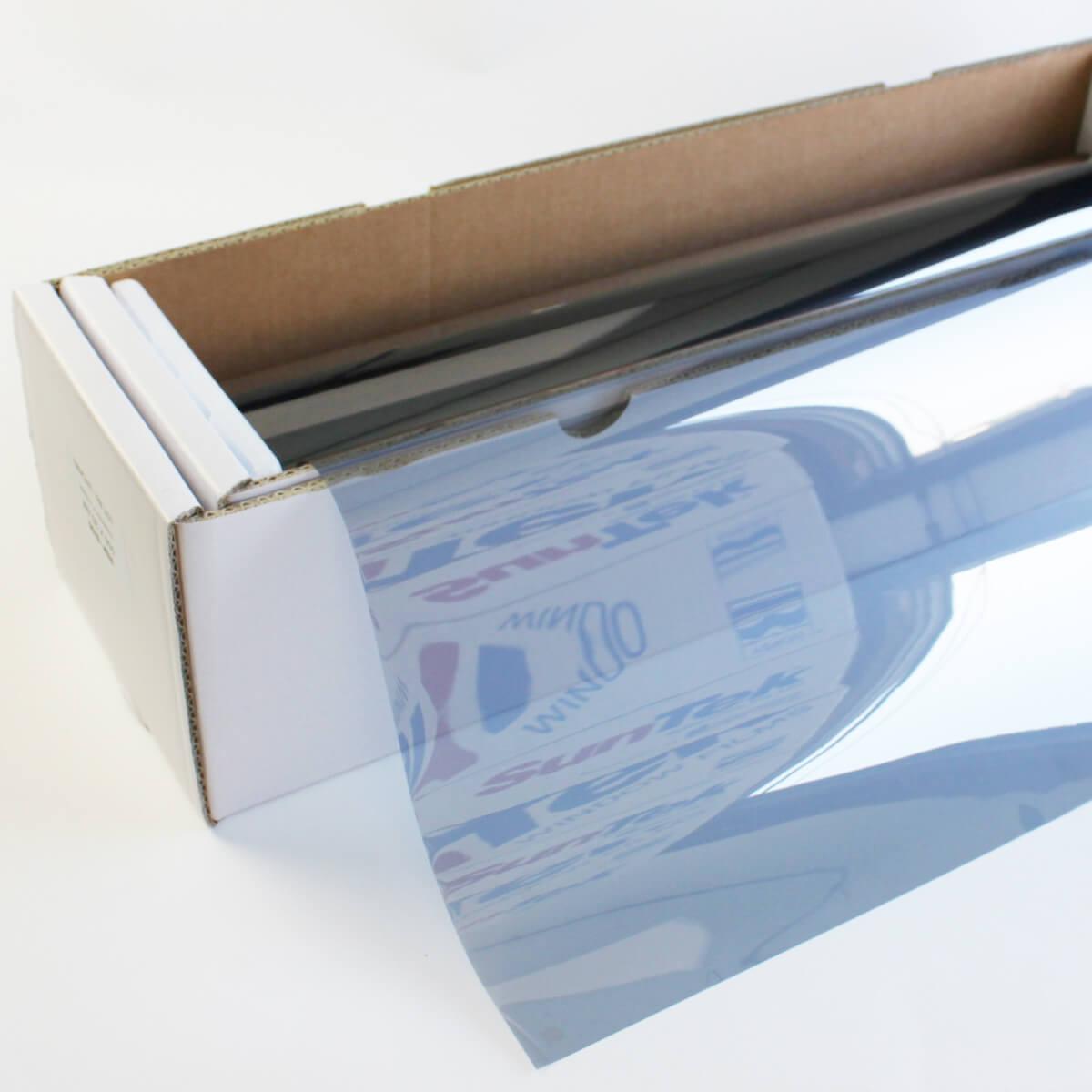 送料無料 ウィンドウフィルム 窓ガラスフィルムスパッタシルバー50 1.5m幅×30mロール箱売 遮熱フィルム 断熱フィルム UVカットフィルム ブレインテック Braintec