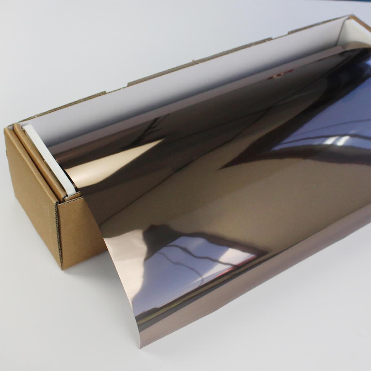 カーフィルム 窓ガラスフィルム SPブロンズメタル20(22%) 1.5m幅×30mロール箱売 ミラーフィルム 遮熱フィルム 断熱フィルム UVカットフィルム ブレインテック Braintec