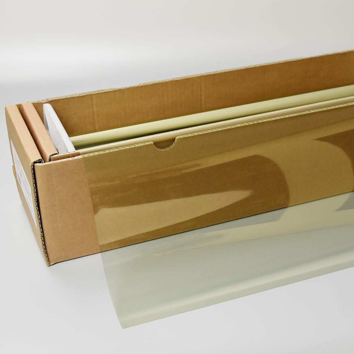 送料無料 ウィンドウフィルム 窓ガラスフィルム スーパーUV400スパッタゴールド77(77%) 1.5m幅×30mロール箱売 遮熱フィルム 断熱フィルム UVカットフィルム ブレインテック Braintec