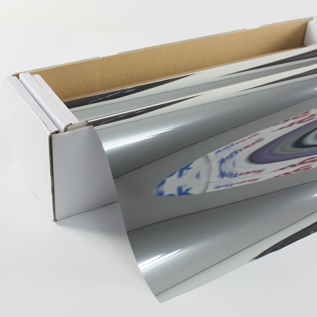 送料無料 ウィンドウフィルム 窓ガラスフィルム リアルミラー 両面不透明ミラーフィルム 1.5m幅×30mロール箱売 完全不透明フィルム プライバシーフィルム 遮熱フィルム 断熱フィルム UVカットフィルム ブレインテック Braintec