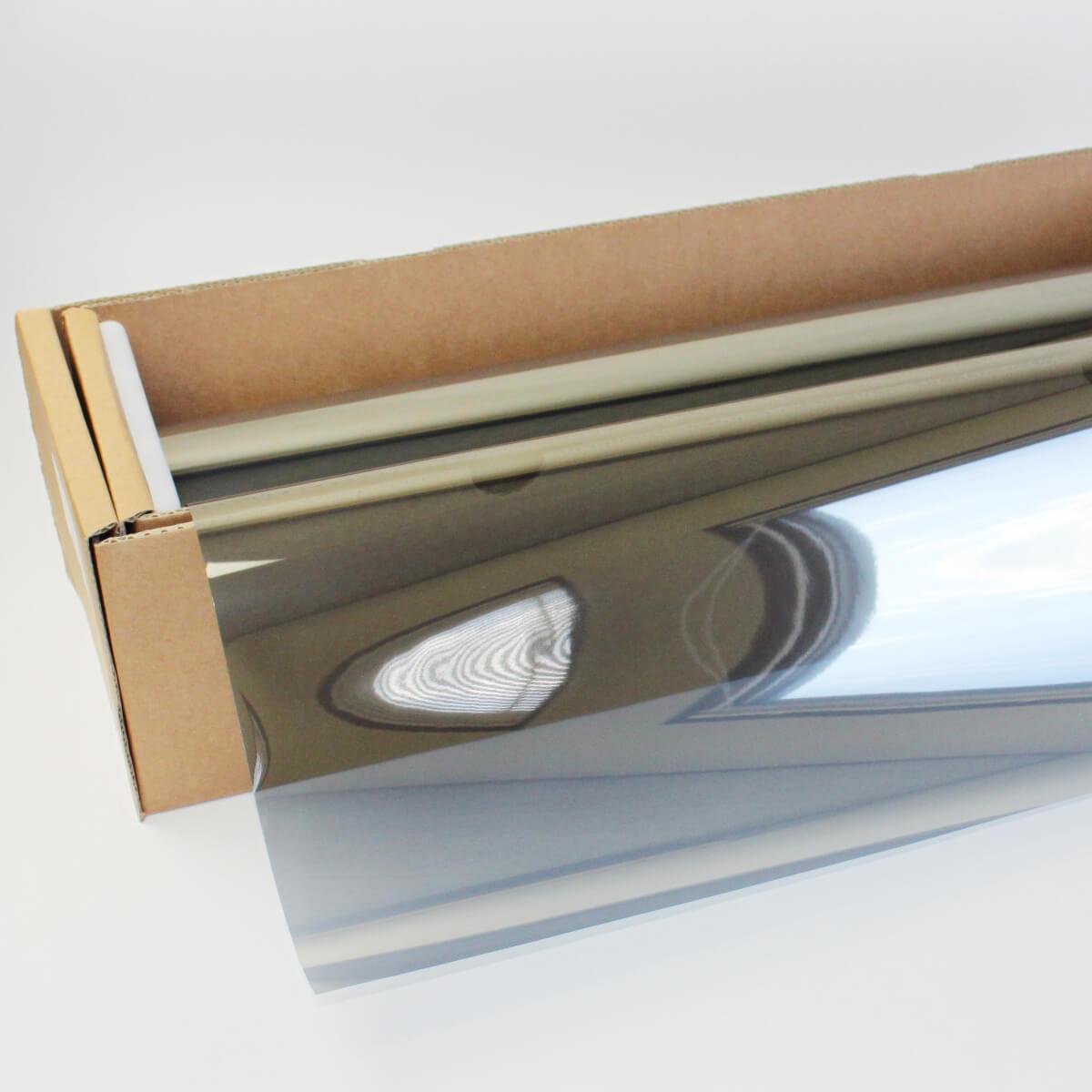 ウィンドウフィルム 窓ガラスフィルムスパッタシルバー35 1m幅×30mロール箱売 マジックミラーフィルム 遮熱フィルム 断熱フィルム UVカットフィルム ブレインテック Braintec