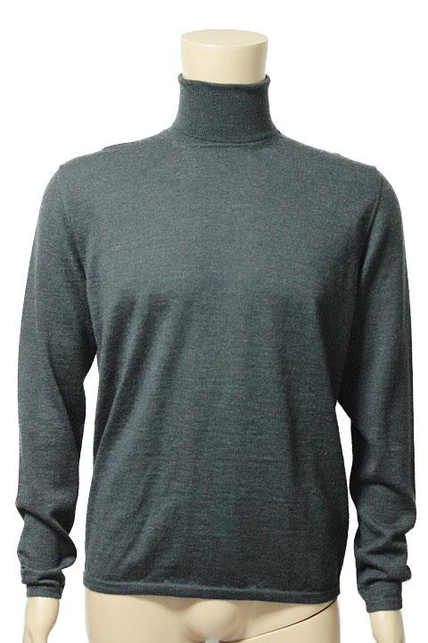 Cruciani クルチアーニ ウール タートルネック 長袖 ニット セーター size 50 グレー メンズ【中古】【鑑定済み】【送料無料】