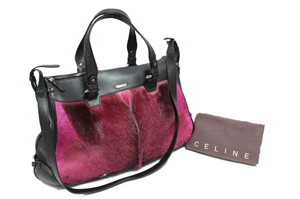 CELINE セリーヌ スプリングボック ハラコファー レザー 2WAY ショルダー/トートバッグ【中古】レディース 鞄【送料無料】