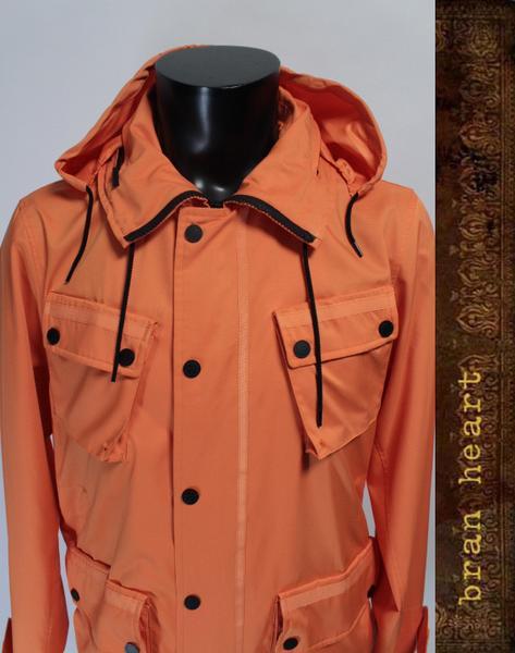 【中古】CASH CA カシュカ ナイロン ジップアップ パーカー ブルゾン オレンジ メンズ 紳士 アウター【送料無料】