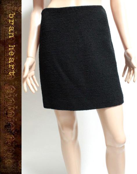 MOSCHINO モスキーノ シンプル 台形 ミニスカート ブラック【中古】レディース ボトムス【送料無料】