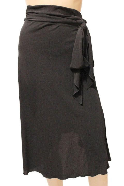 FOXEY NEW YORK フォクシーニューヨーク フリル ラップスカート 巻きスカート size 38 ブラック 13900【中古】【鑑定済み】【送料無料】