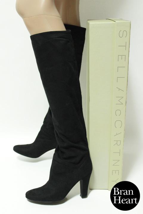Stella McCartney ステラ マッカートニー スエード ルーズ ロングブーツ ブラック size 35.5 レディース【中古】【2点以上同時購入で送料無料】