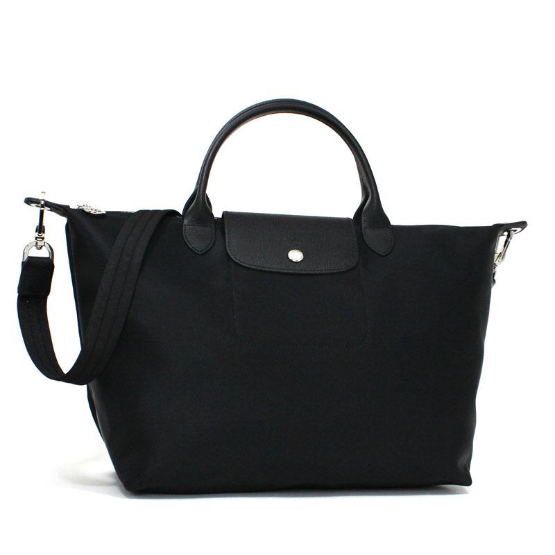 ロンシャン LONG CHAMP 2WAYショルダーバッグ ル・プリアージュ ネオ ミディアムサイズ ブラック ノワール 黒 Le Pliage Neo Shoulder Bag Medium Black Noir L1515 578 001